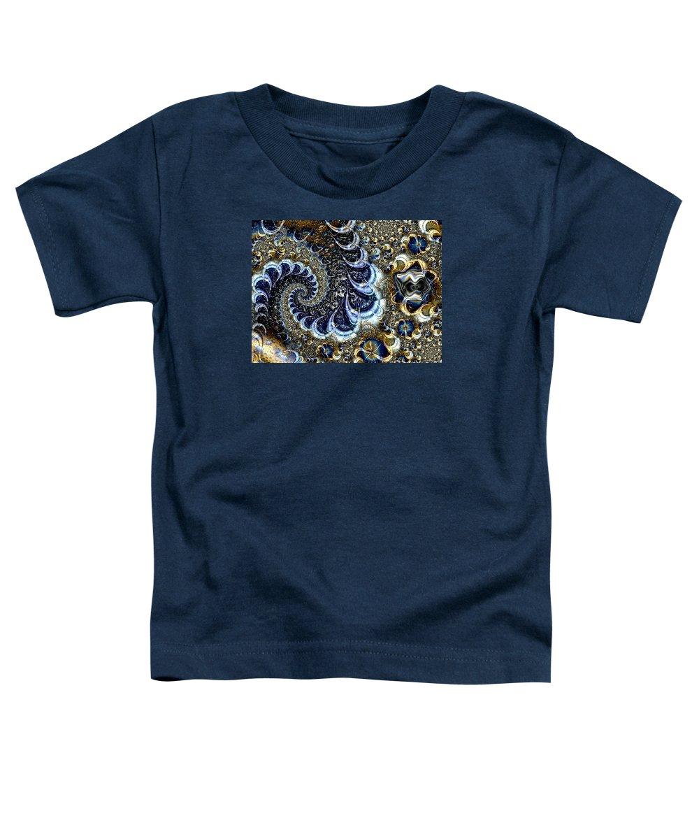 Fractal Diamonds Blue Jewel Dance River Toddler T-Shirt featuring the digital art The Blue Diamonds by Veronica Jackson