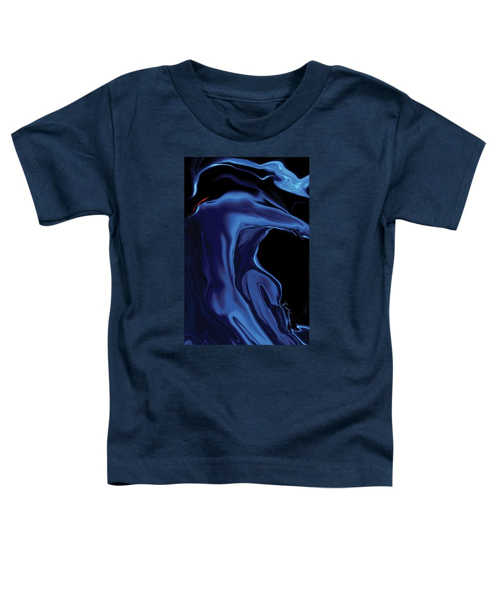 Abstract Toddler T-Shirt featuring the digital art The Blue Kiss by Rabi Khan