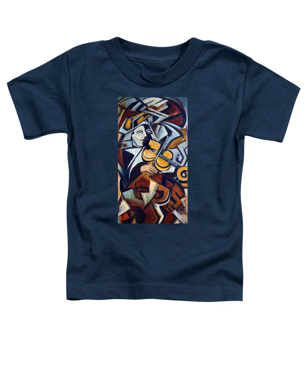 Musician Toddler T-Shirt featuring the painting The Fiddler by Valerie Vescovi