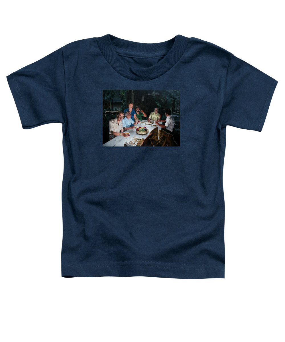 Last Supper Toddler T-Shirt featuring the painting The Last Supper by Dave Martsolf