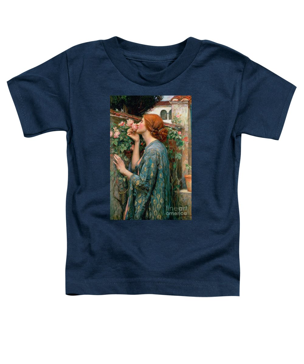 The Toddler T-Shirt featuring the painting The Soul Of The Rose by John William Waterhouse