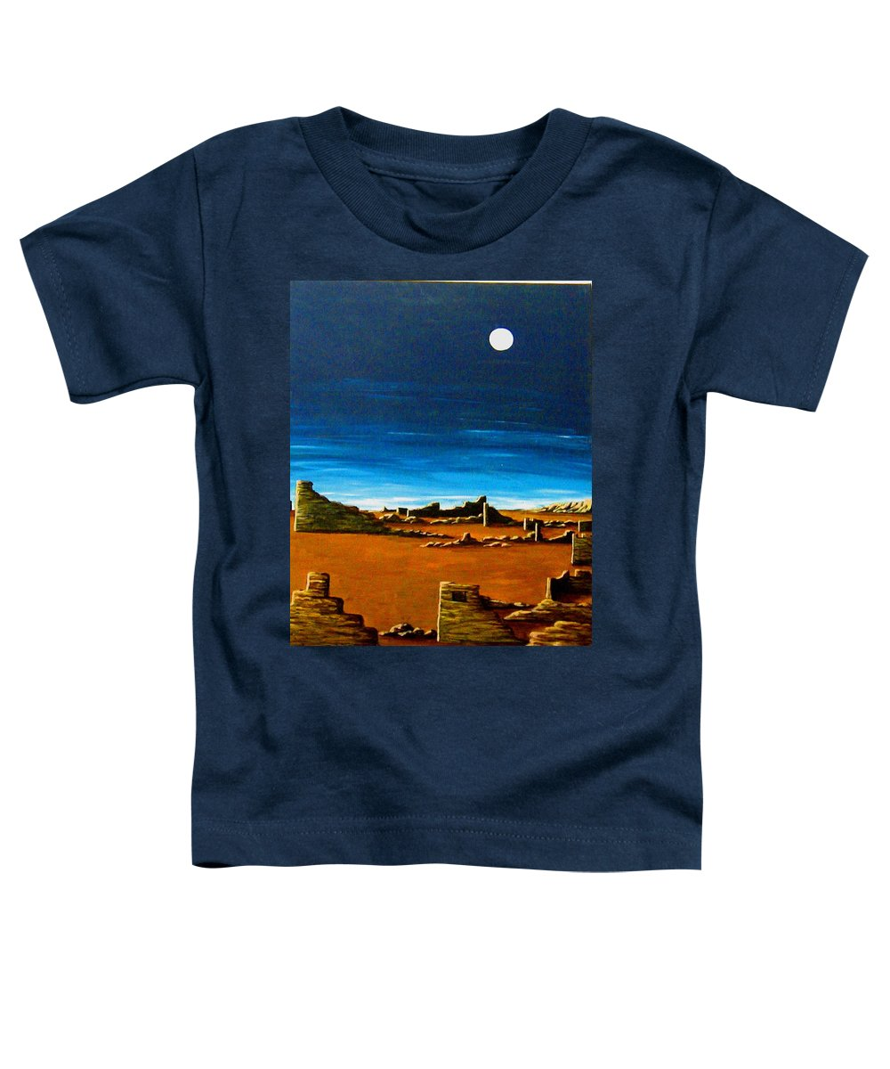 Anasazi Toddler T-Shirt featuring the painting Timeless by Diana Dearen