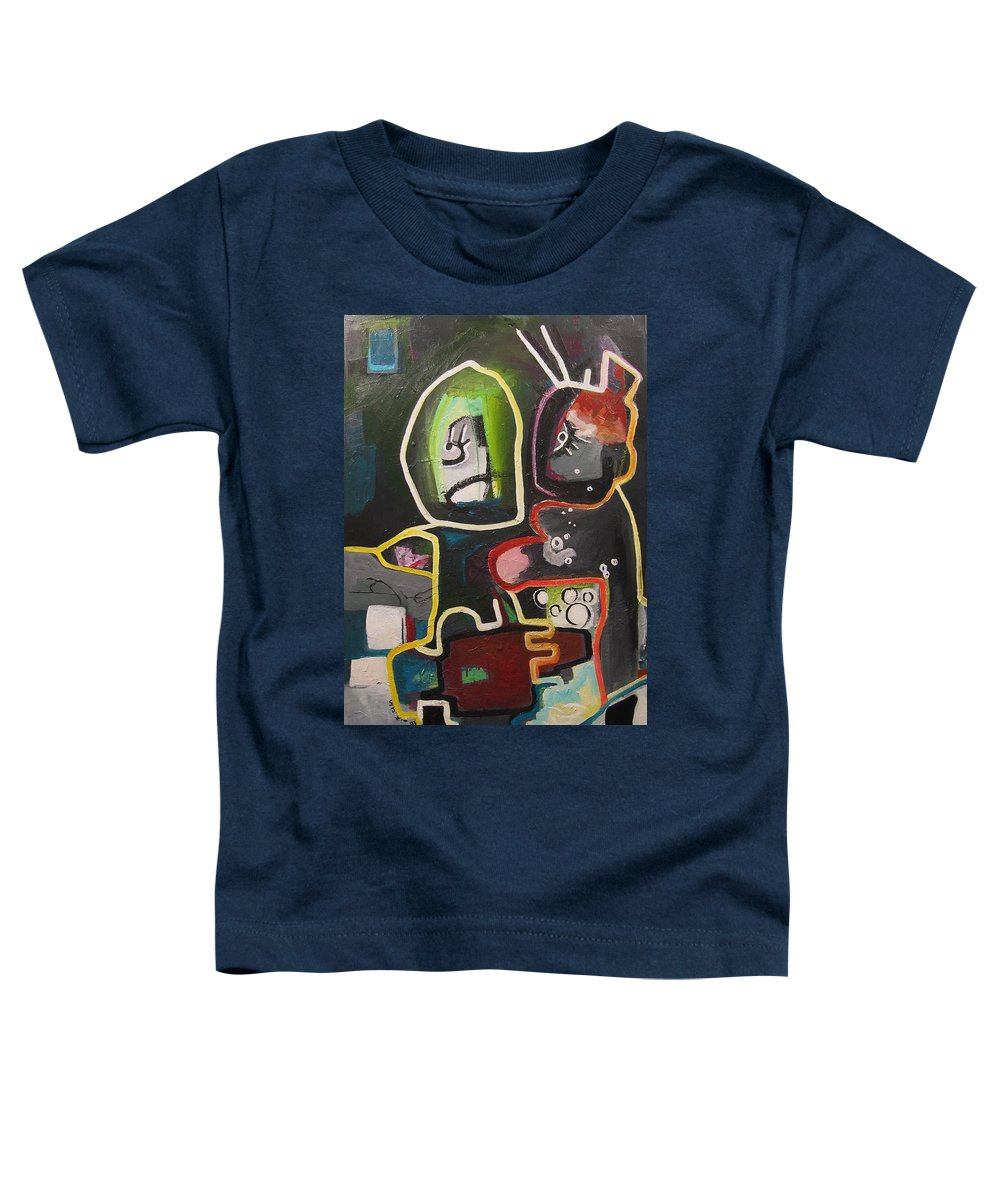 Couple Paintings Toddler T-Shirt featuring the painting To Get Along by Seon-Jeong Kim