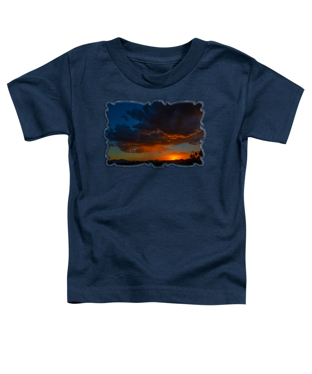 Arizona Toddler T-Shirt featuring the photograph Tucson Sunset H59 by Mark Myhaver