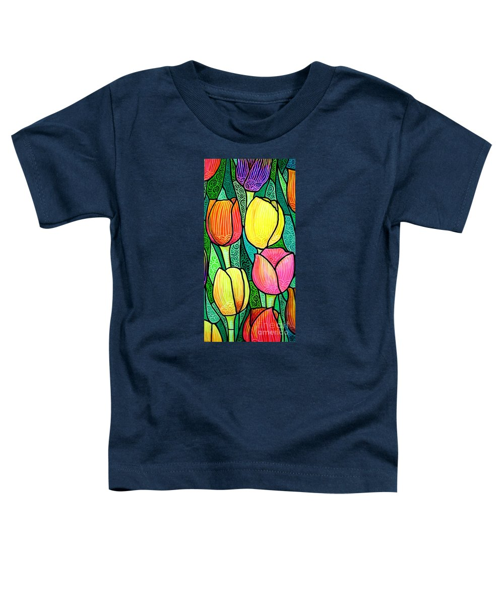 Tulips Toddler T-Shirt featuring the painting Tulip Expo by Jim Harris