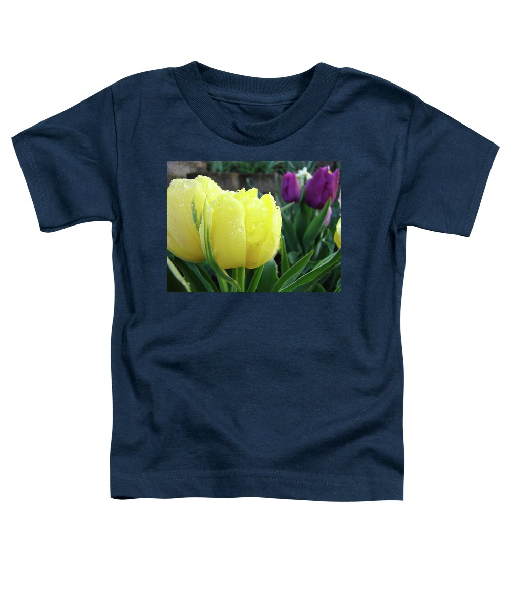 �tulips Artwork� Toddler T-Shirt featuring the photograph Tulip Flowers Artwork Tulips Art Prints 10 Floral Art Gardens Baslee Troutman by Baslee Troutman