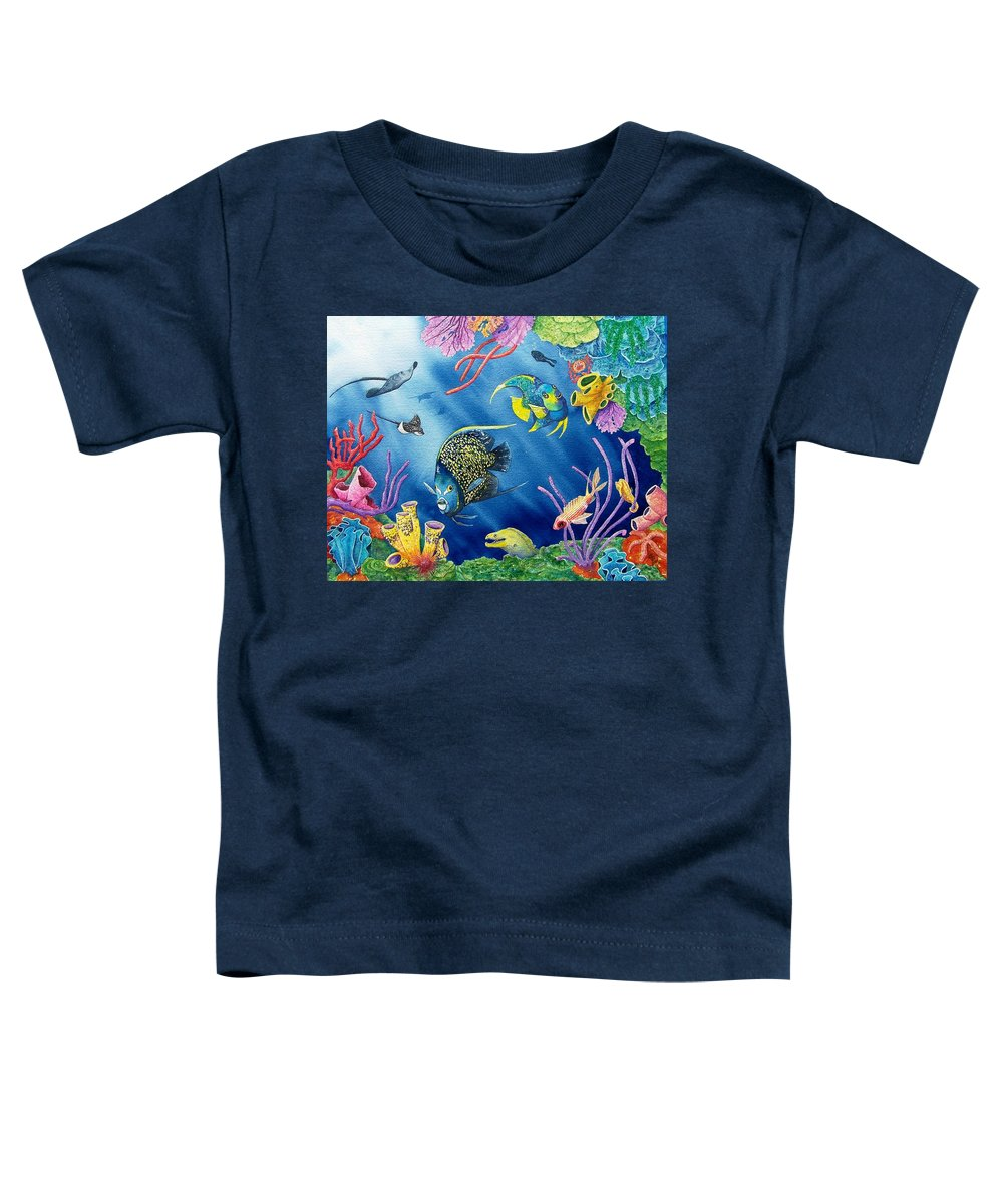 Undersea Toddler T-Shirt featuring the painting Undersea Garden by Gale Cochran-Smith