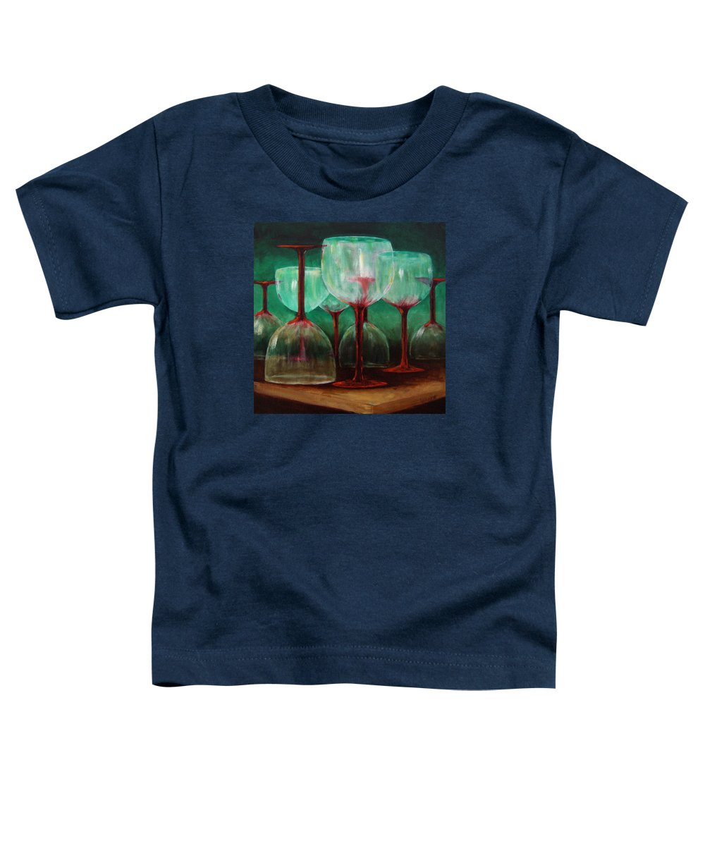 Oil Toddler T-Shirt featuring the painting Upsidedown by Linda Hiller
