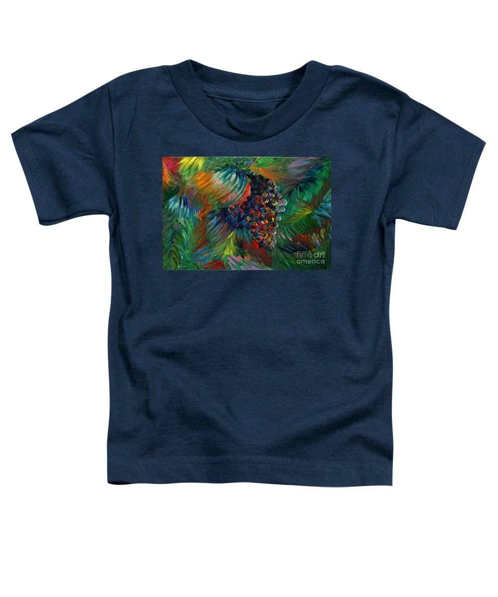 Grapes Toddler T-Shirt featuring the painting Vibrant Grapes by Nadine Rippelmeyer