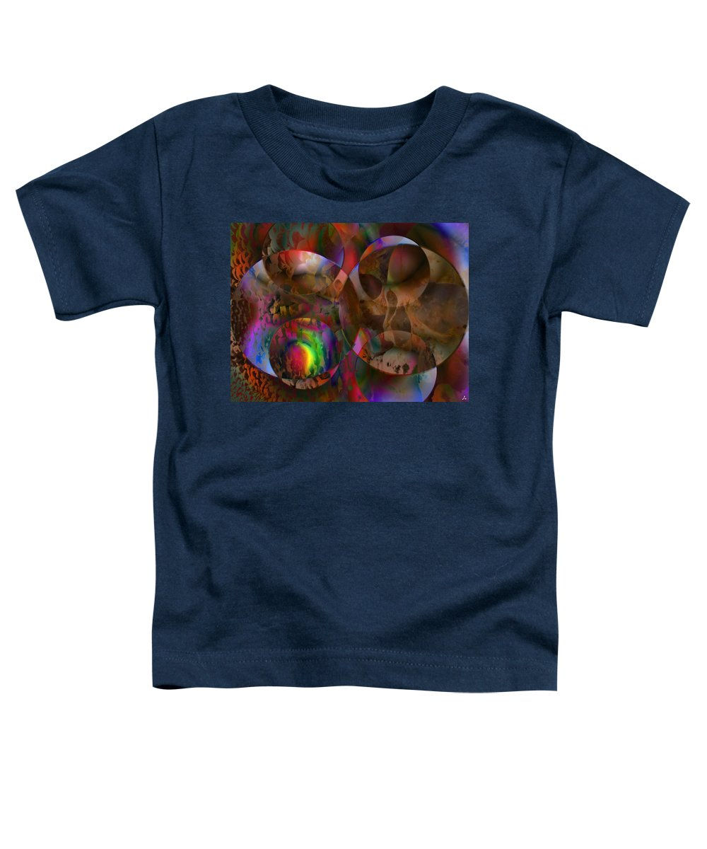 Colors Toddler T-Shirt featuring the digital art Vision 24 by Jacques Raffin