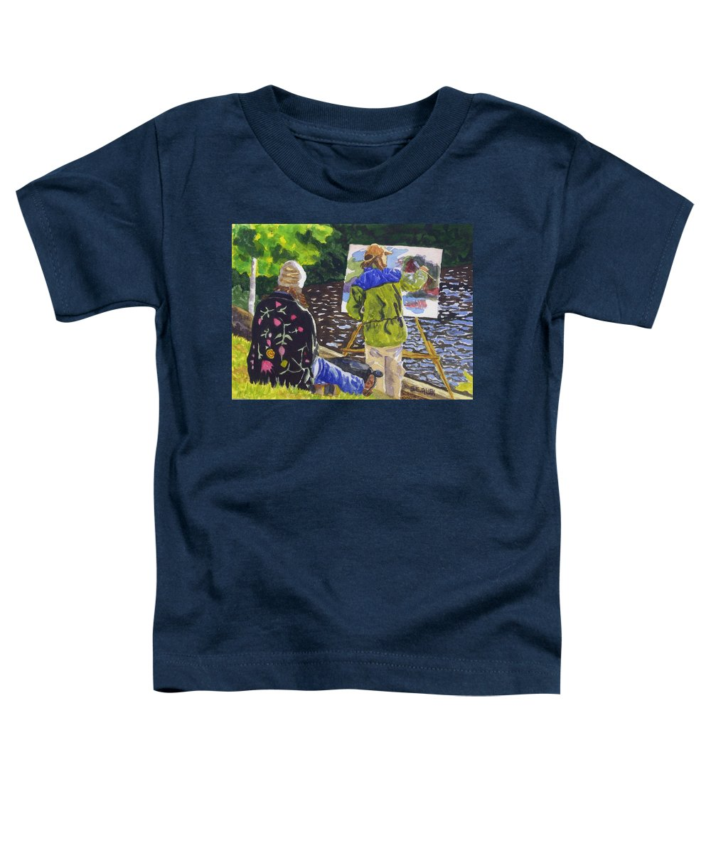 Artist Toddler T-Shirt featuring the painting Watching The Maestro by Sharon E Allen