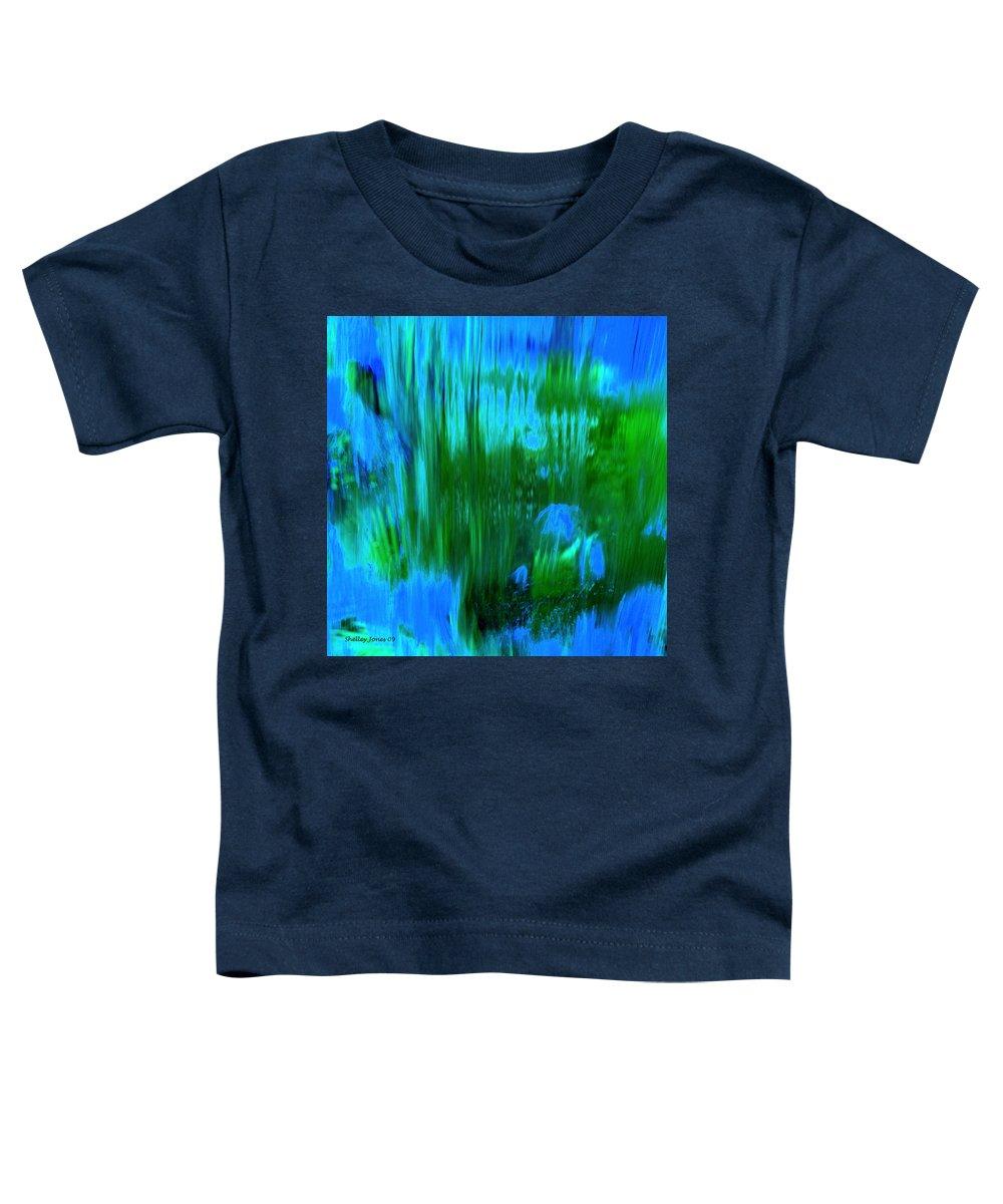 Digital Art Toddler T-Shirt featuring the digital art Waterfall by Shelley Jones