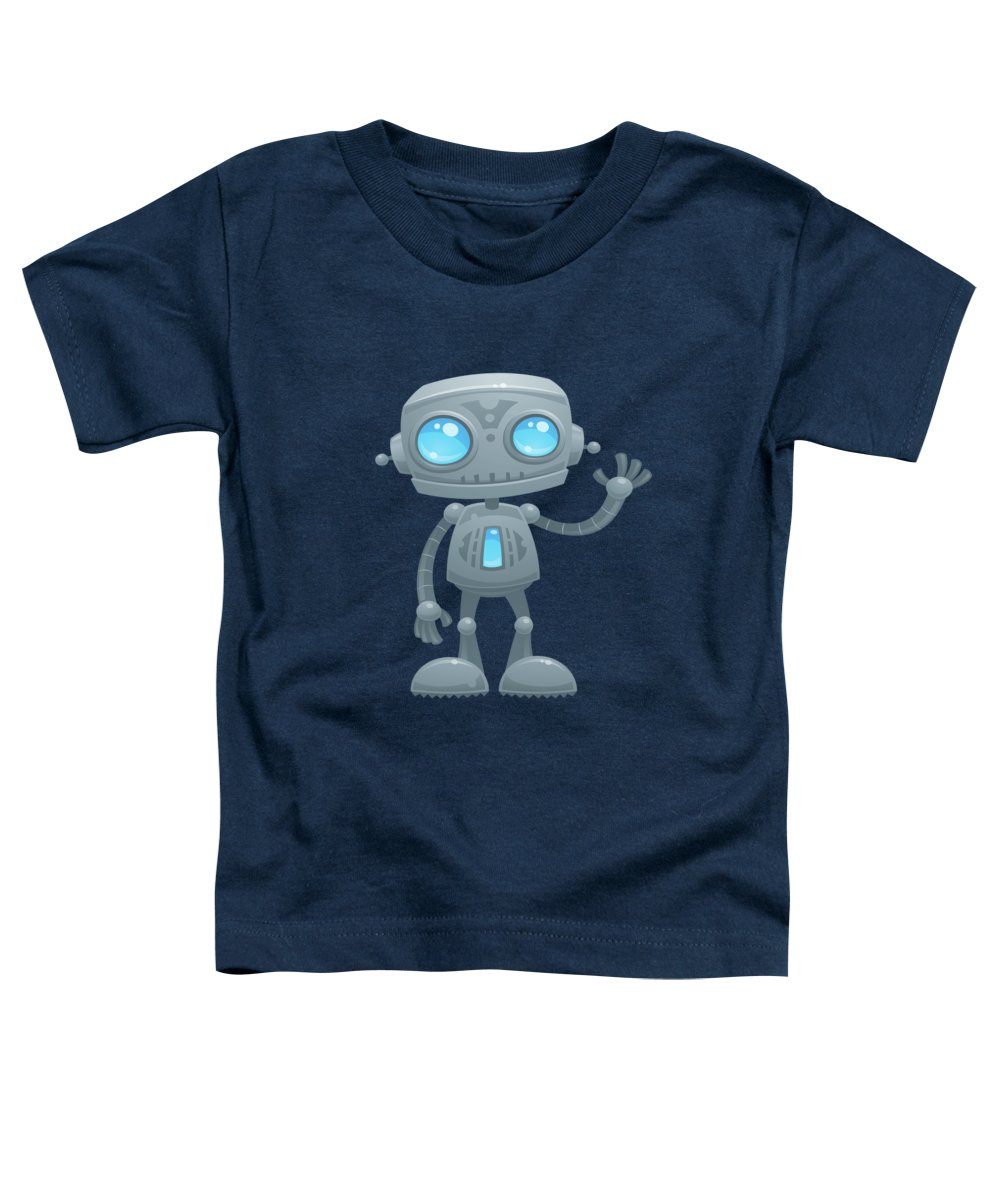 Wave Digital Art Toddler T-Shirts