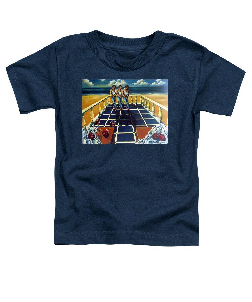 Surreal Toddler T-Shirt featuring the painting Wine And Pomegranites by Valerie Vescovi
