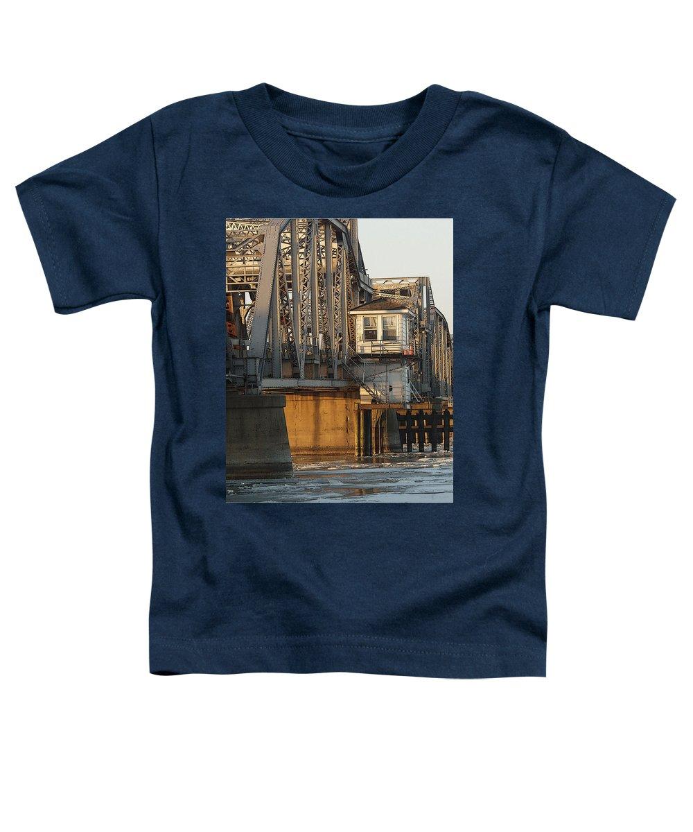 Bridge Toddler T-Shirt featuring the photograph Winter Bridgehouse by Tim Nyberg