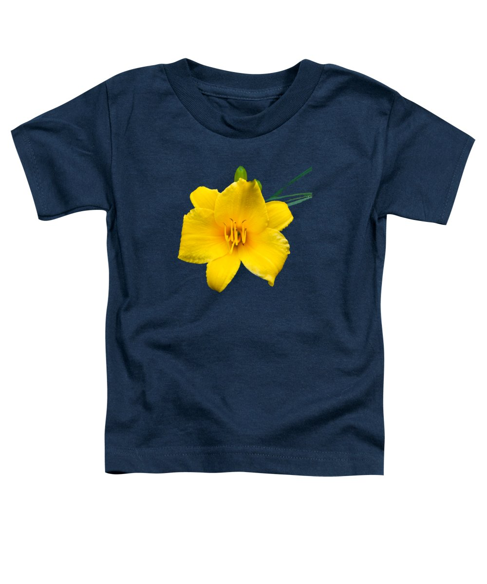 Daylily Toddler T-Shirt featuring the photograph Yellow Daylily Flower by Christina Rollo