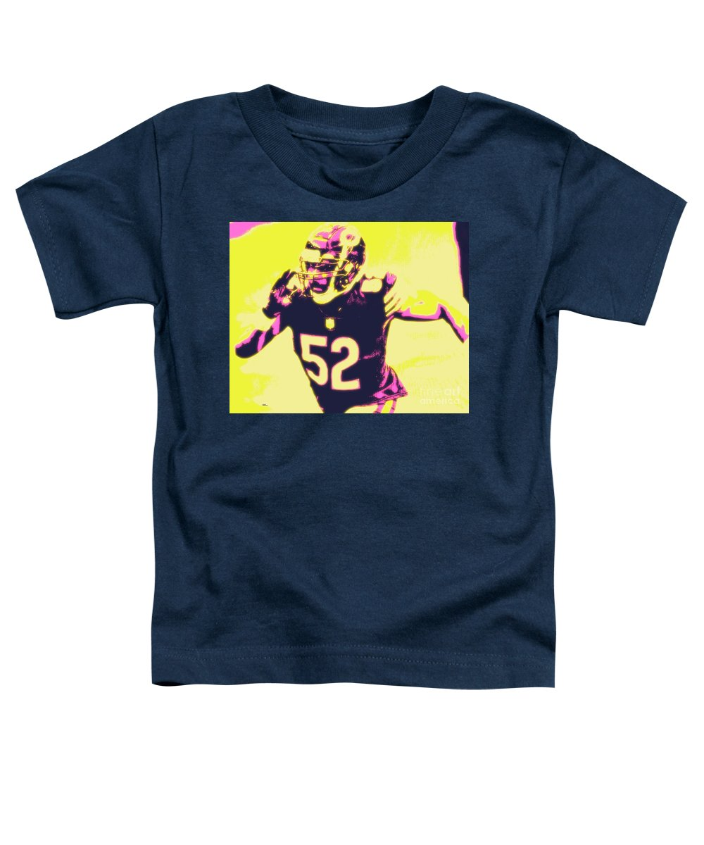 Khalil Toddler T-Shirt featuring the painting Khalil Mack by Jack Bunds