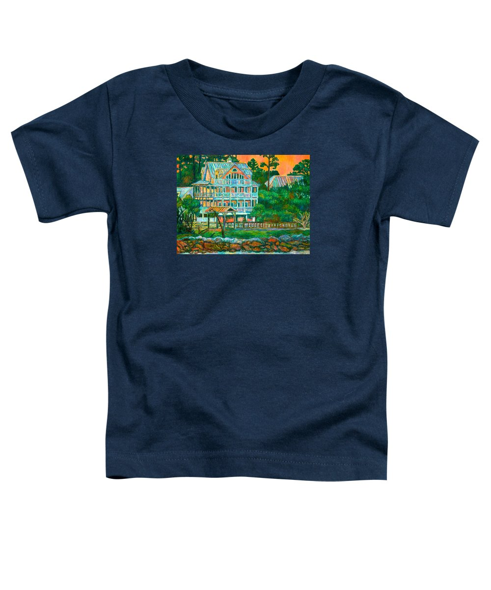 Landscape Toddler T-Shirt featuring the painting Pawleys Island Evening by Kendall Kessler