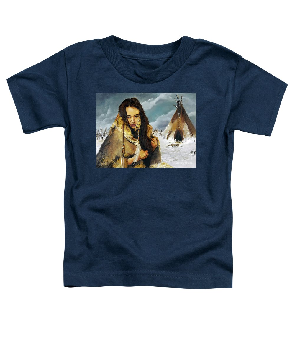 Southwest Art Toddler T-Shirt featuring the painting Solitude by J W Baker