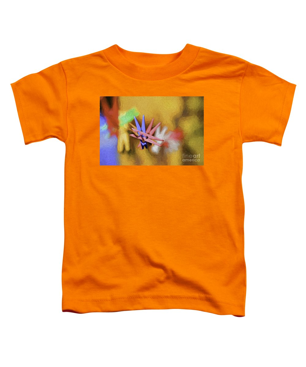 Abstract Toddler T-Shirt featuring the photograph Pegs by Sheila Smart Fine Art Photography