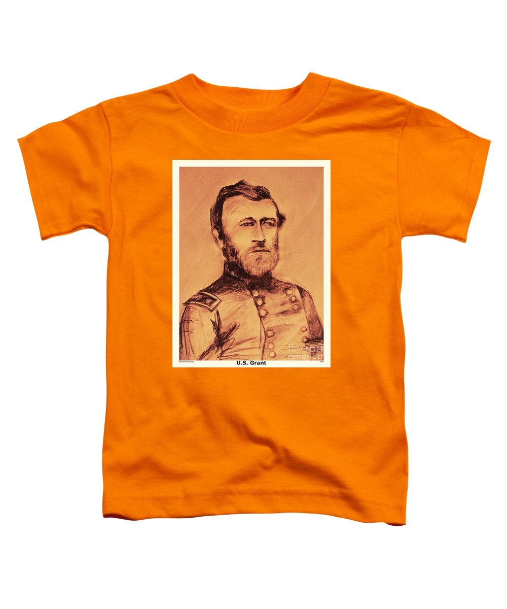 Grant Toddler T-Shirt featuring the painting General Us Grant by Eric Schiabor