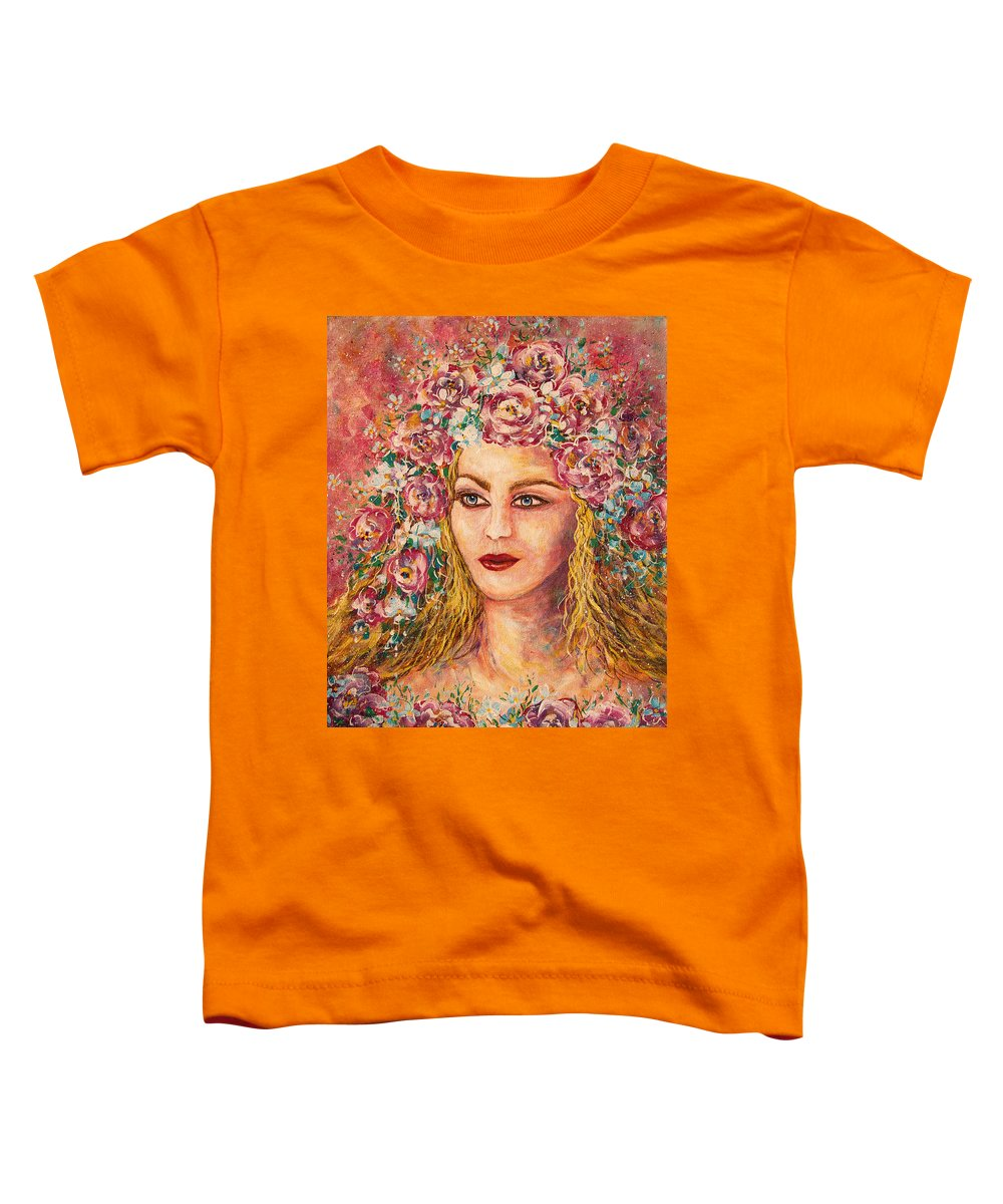 Goddess Toddler T-Shirt featuring the painting Good Fortune Goddess by Natalie Holland