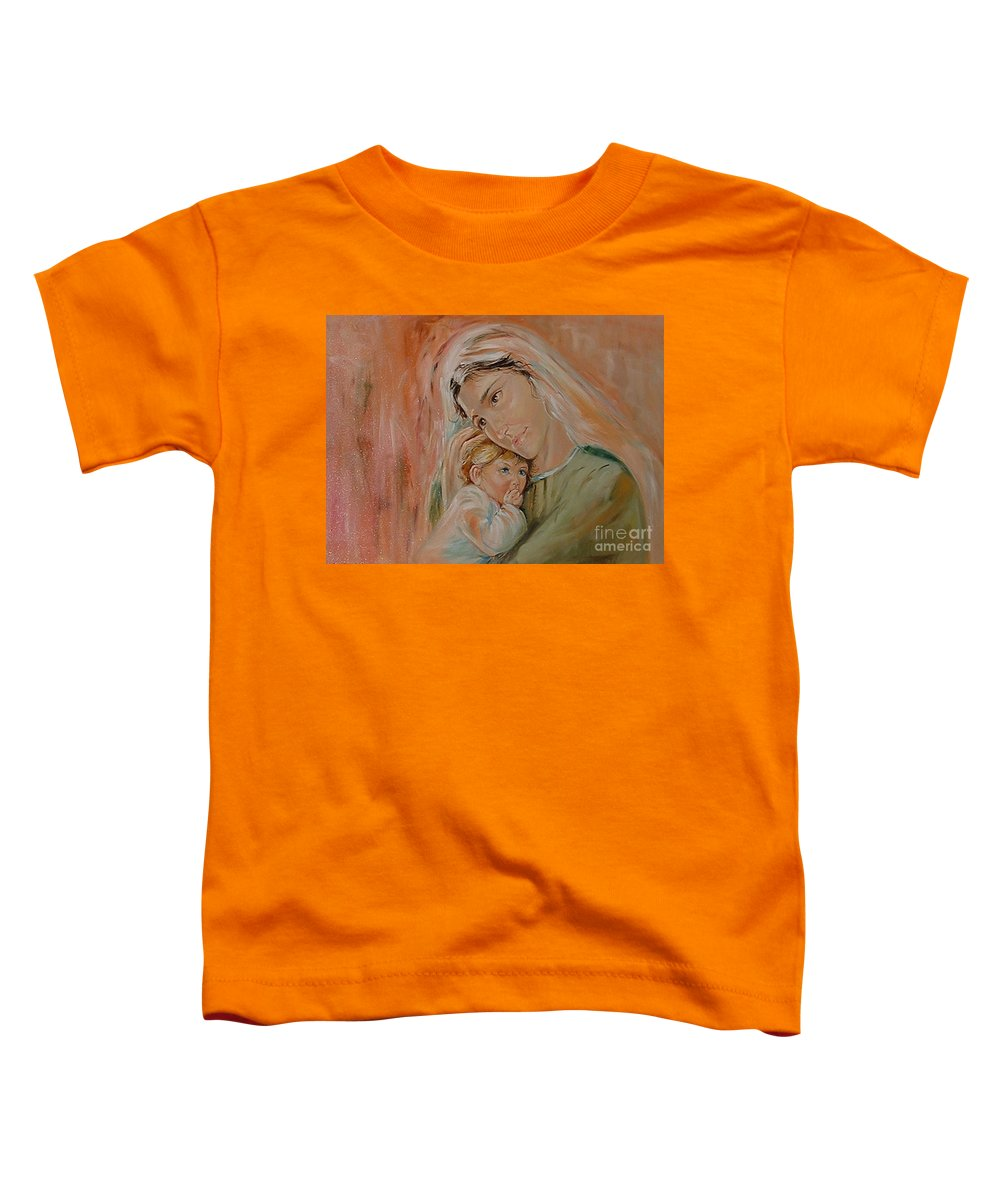 Classic Art Toddler T-Shirt featuring the painting Ave Maria by Silvana Abel