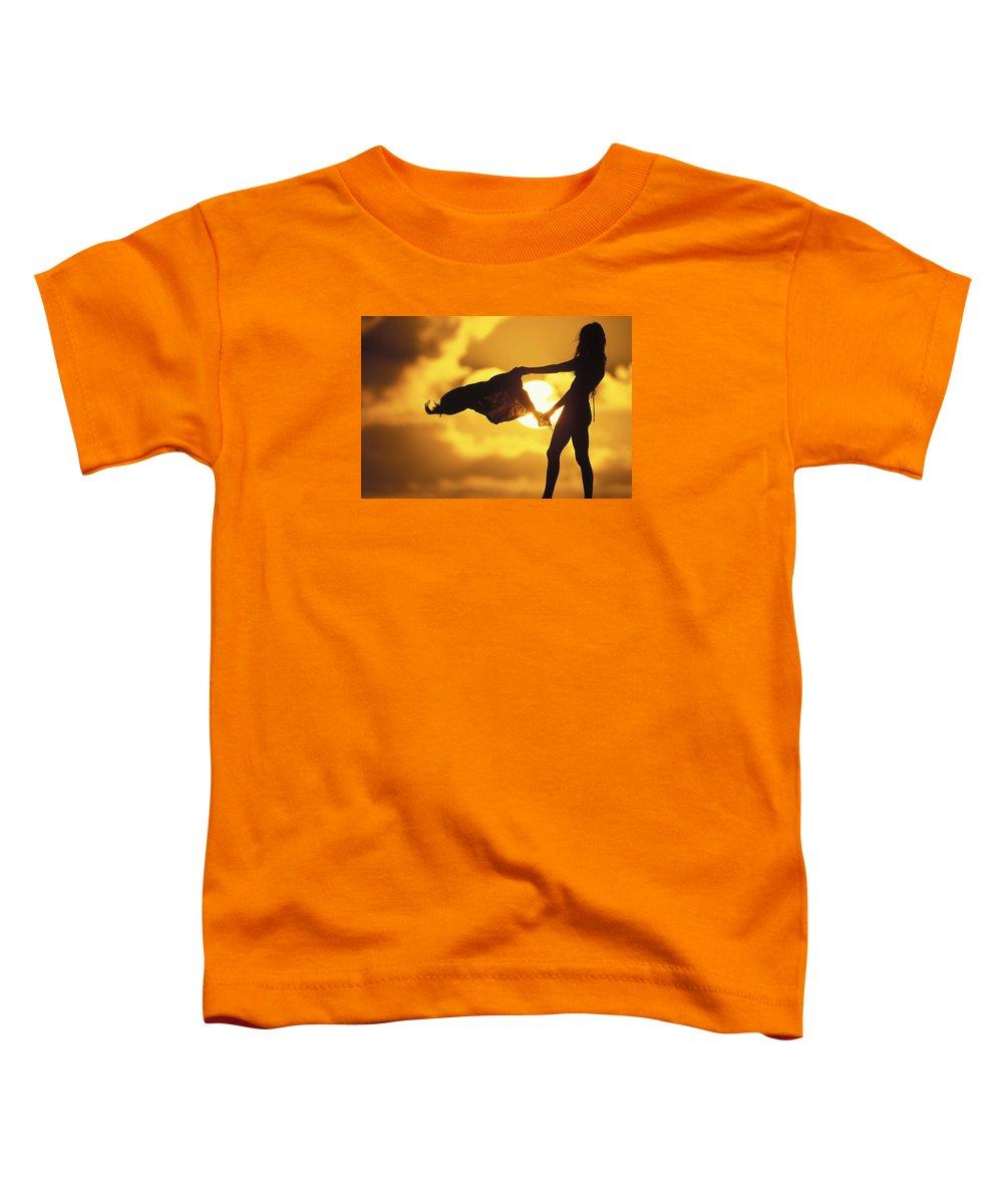 Beach Girl Toddler T-Shirt featuring the photograph Beach Girl by Sean Davey