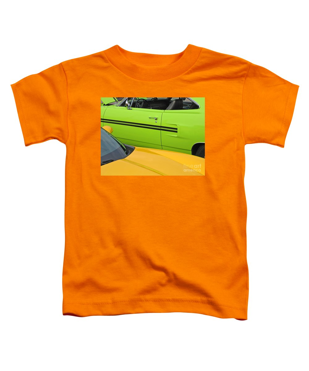 Car Toddler T-Shirt featuring the photograph Classy Classics by Ann Horn