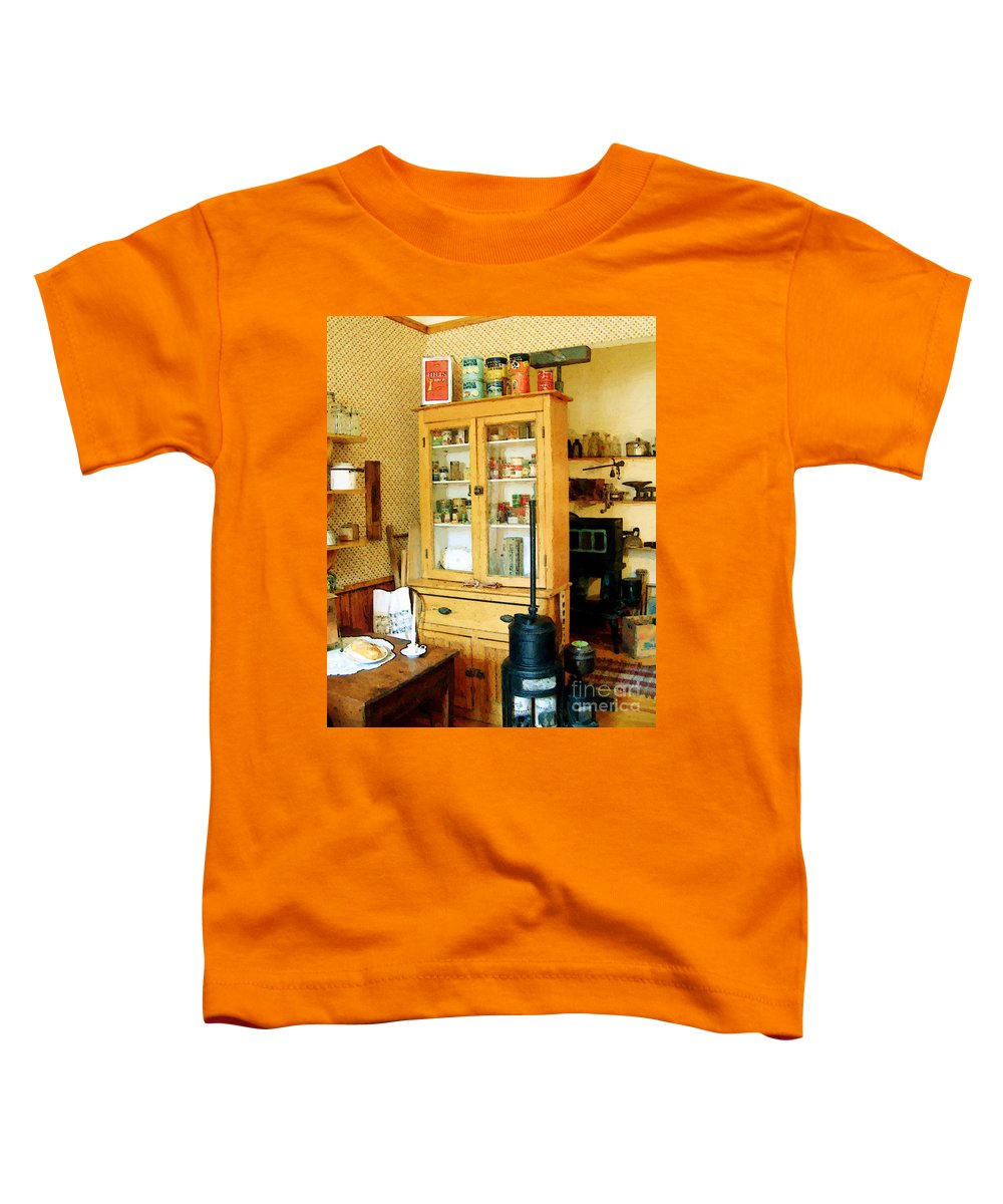 Antiques Toddler T-Shirt featuring the painting Country Kitchen Sunshine IIi by RC deWinter