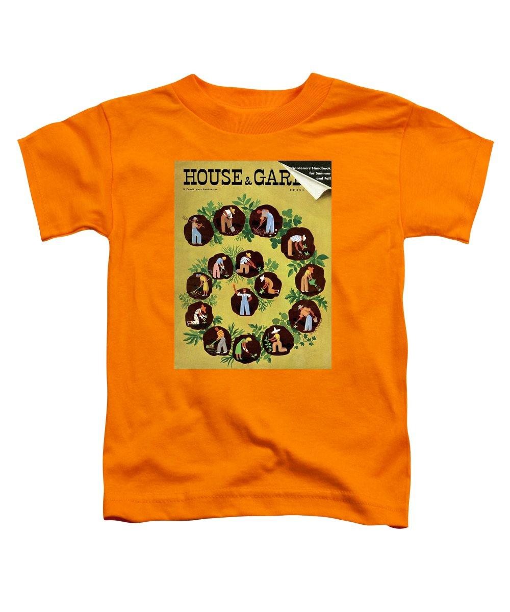 House And Garden Toddler T-Shirt featuring the photograph Gardeners And Farmers by Witold Gordon
