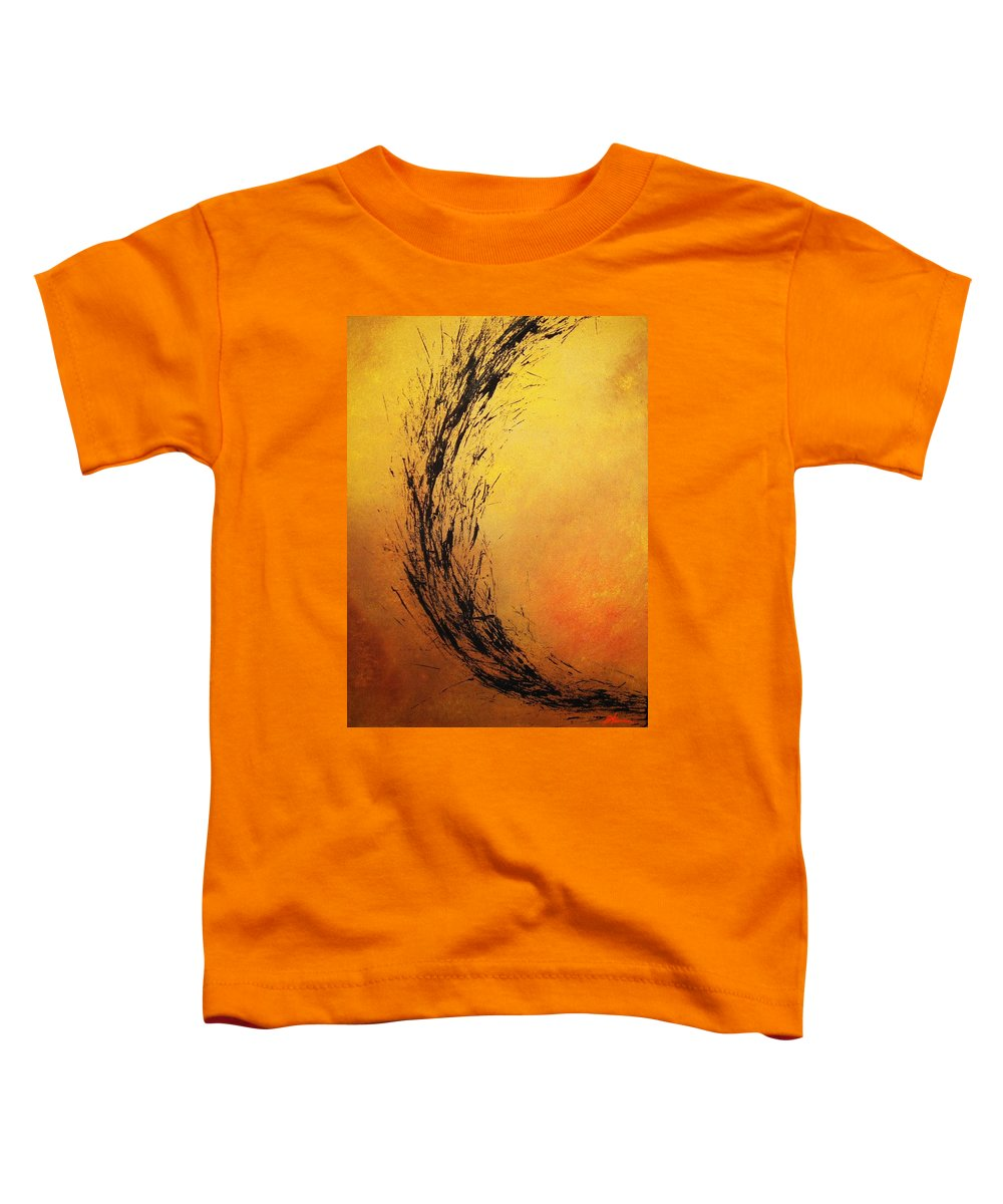 Abstract Toddler T-Shirt featuring the painting Instinct by Todd Hoover