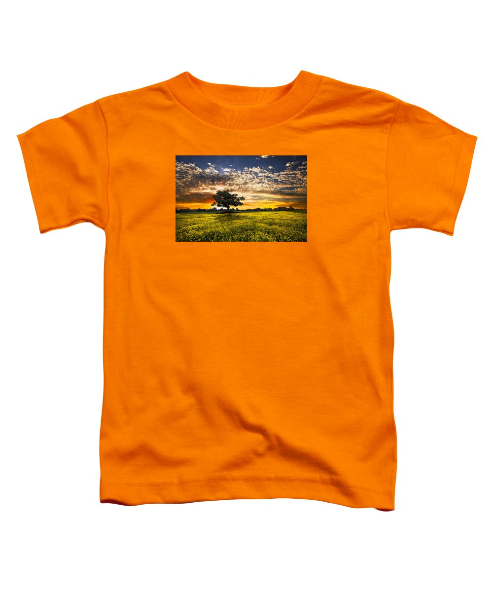 Barns Toddler T-Shirt featuring the photograph Shadows At Sunset by Debra and Dave Vanderlaan