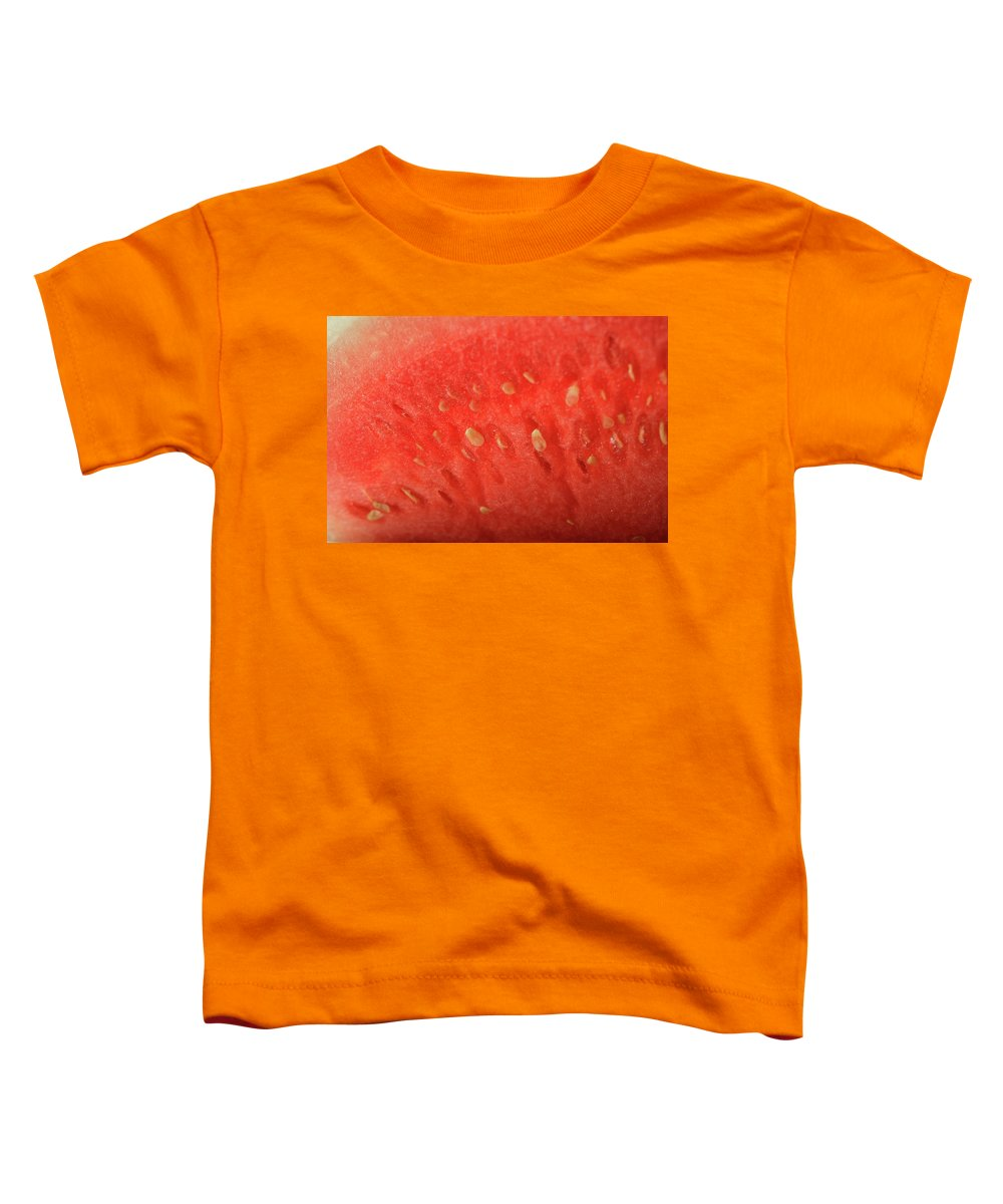 Bowler Hat Toddler T-Shirt featuring the photograph Slice Of Watermelon (detail) by Foodcollection