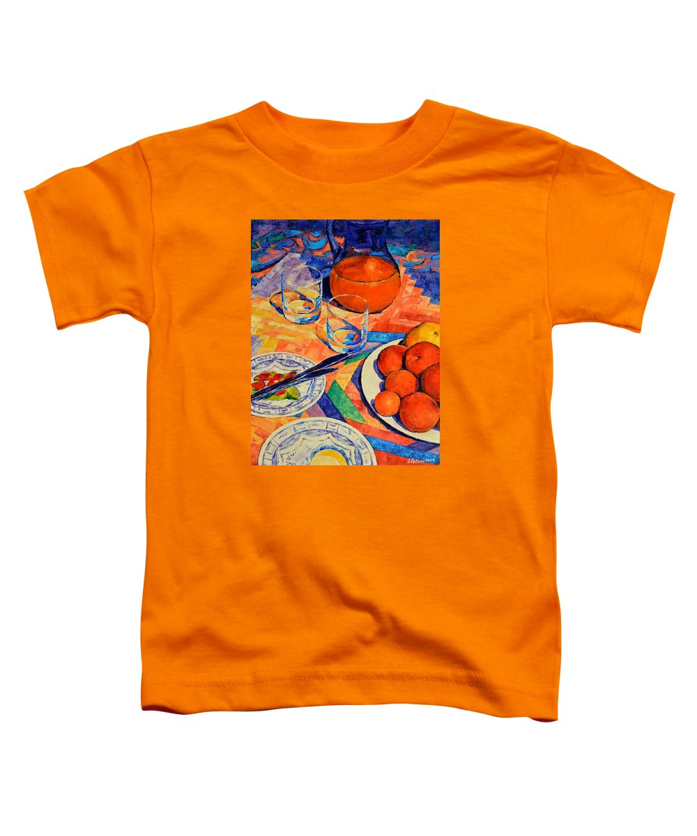 Still Life Toddler T-Shirt featuring the painting Still Life 1 by Iliyan Bozhanov
