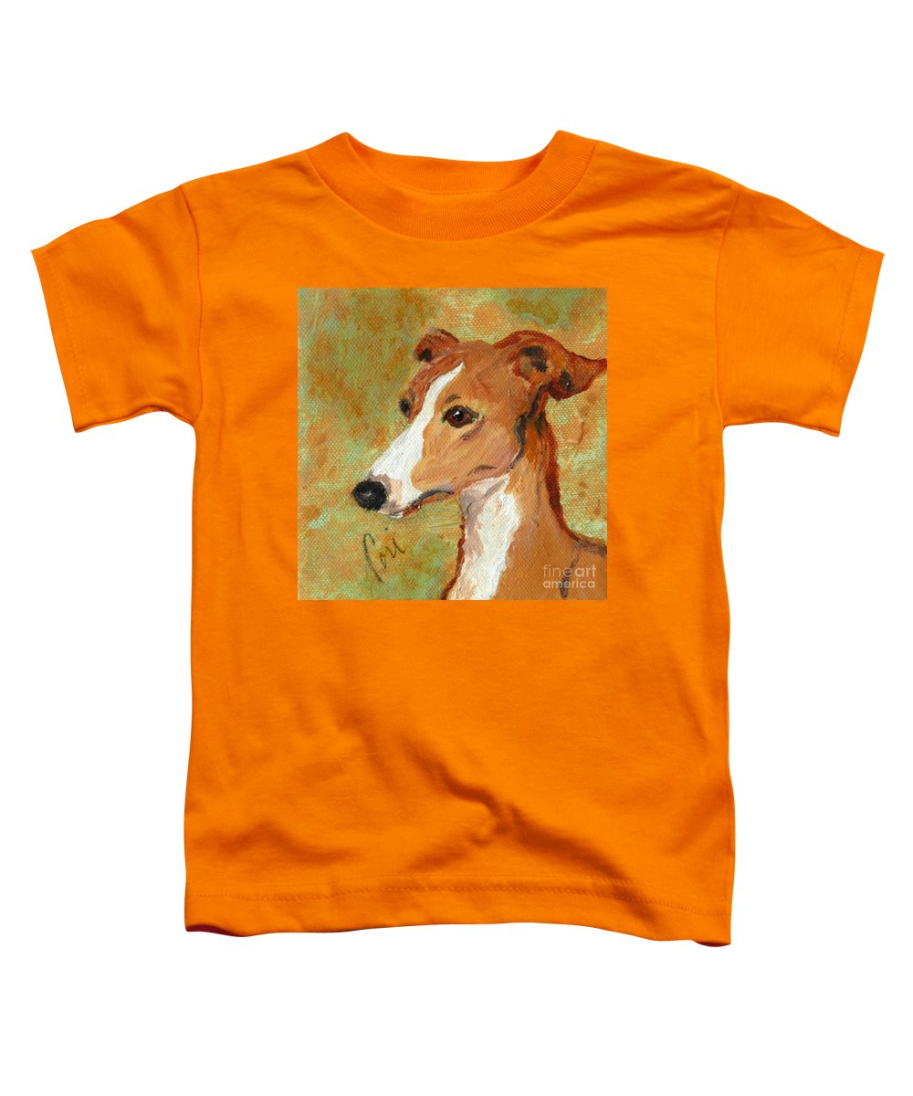 Acrylic Toddler T-Shirt featuring the painting Treasured Moments by Cori Solomon