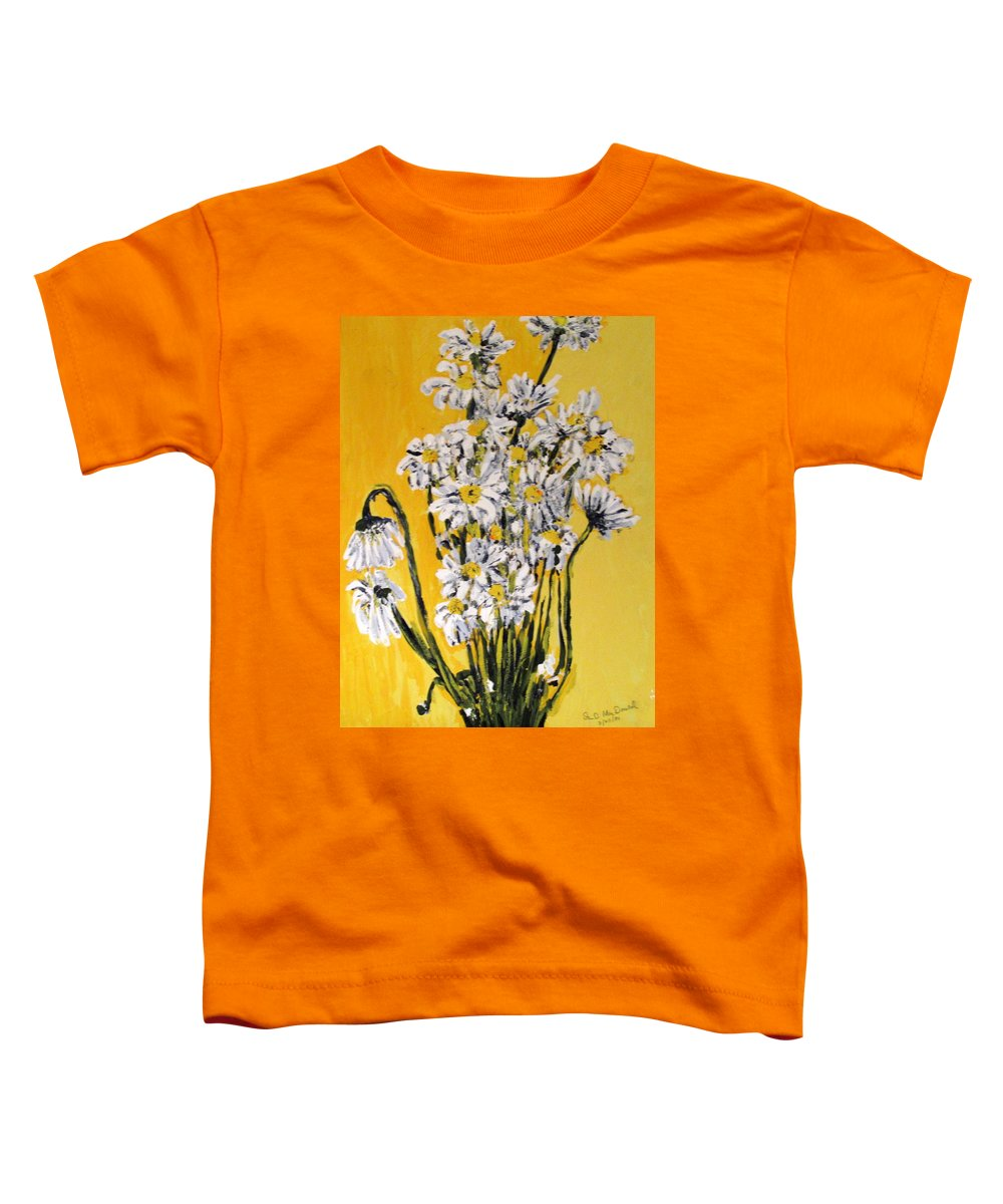 Daisy Toddler T-Shirt featuring the painting Yellow by Ian MacDonald