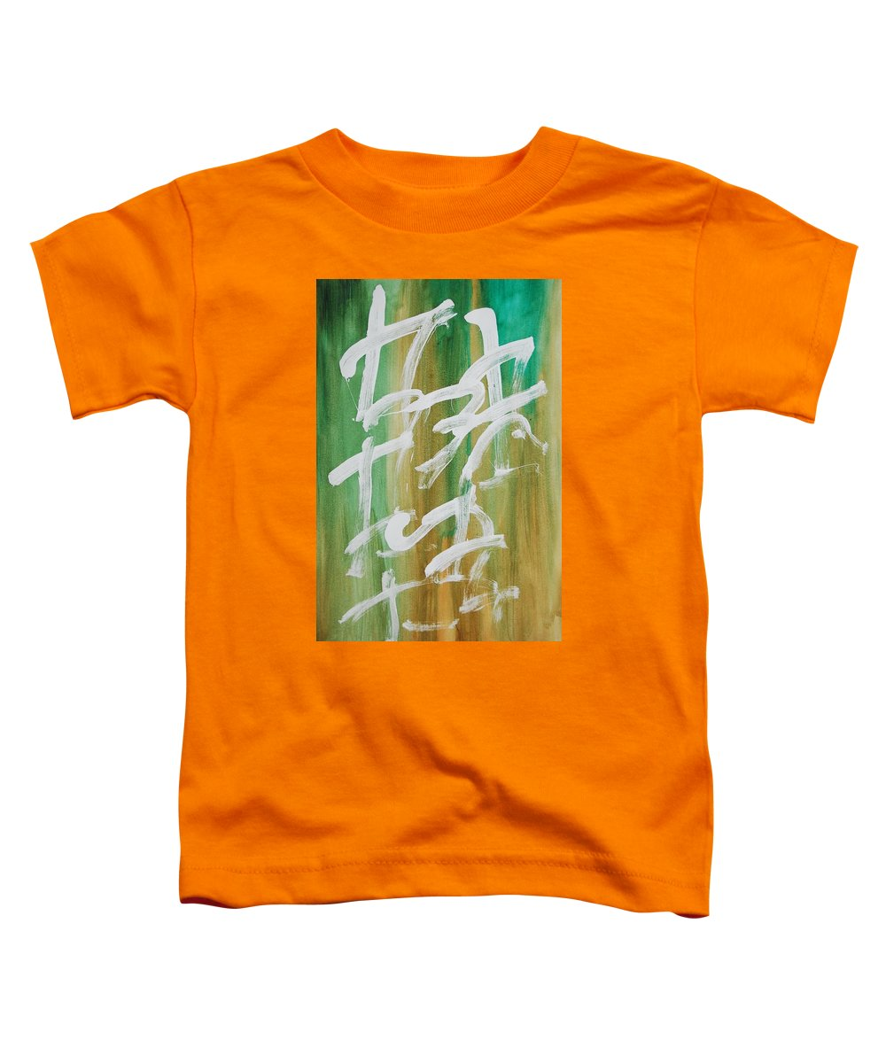 Chinese Toddler T-Shirt featuring the painting Chinese Numbers by Lauren Luna
