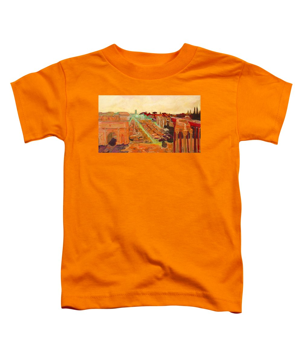 Rome Toddler T-Shirt featuring the painting Foro Romano by Kurt Hausmann