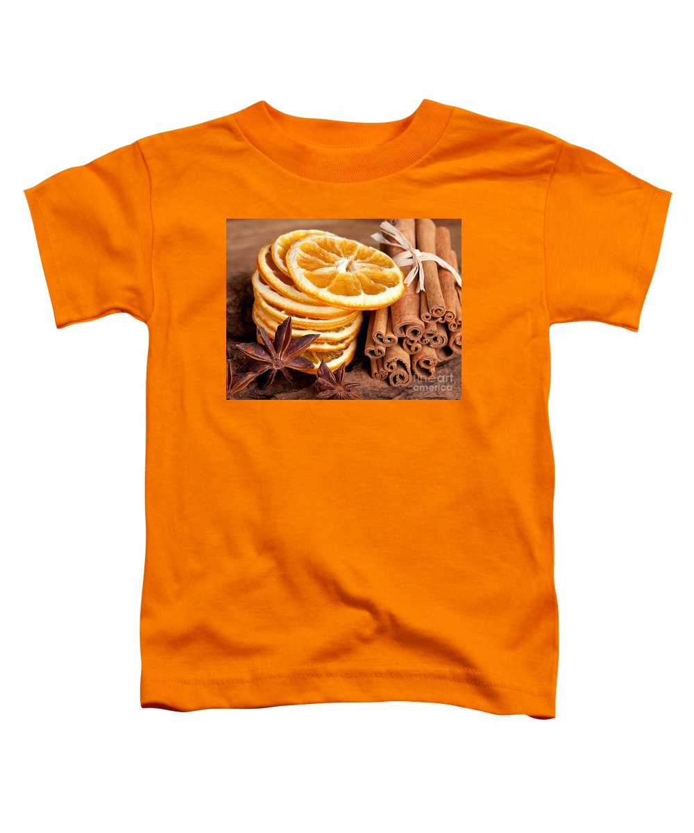 Cinnamon Toddler T-Shirt featuring the photograph Winter Spices by Nailia Schwarz