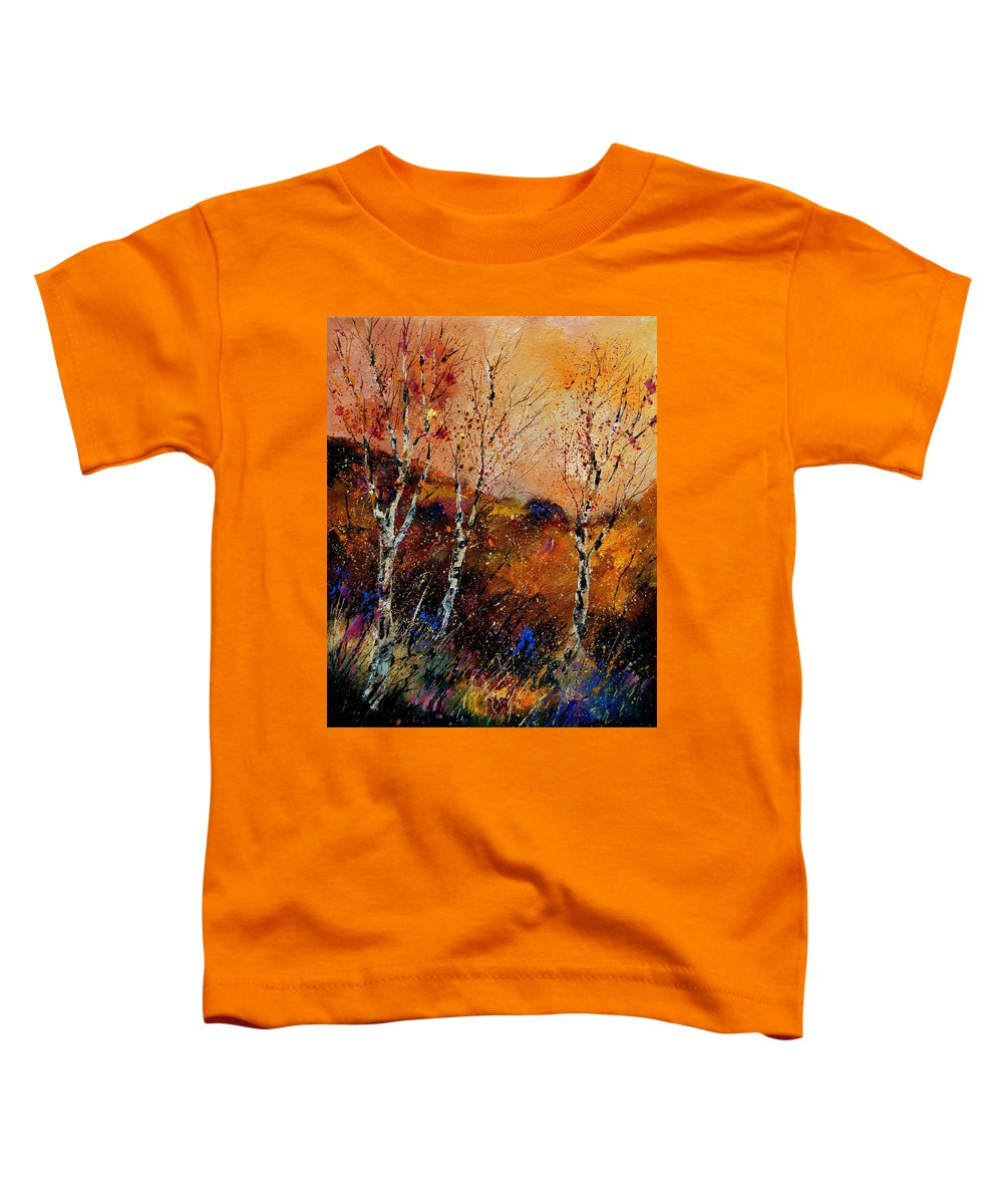 River Toddler T-Shirt featuring the painting 3 Poplars by Pol Ledent