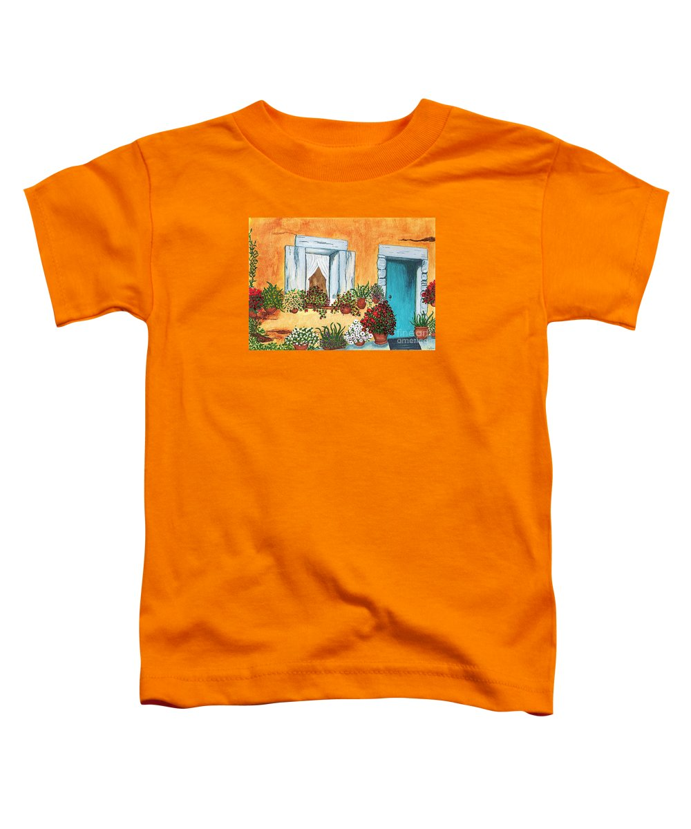 Watercolor Painting Toddler T-Shirt featuring the painting A Cottage In The Village by Patricia Griffin Brett