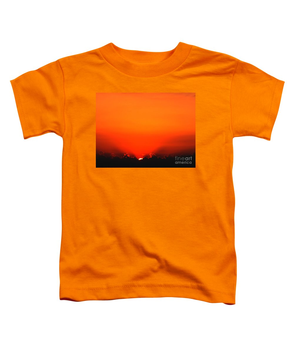 Sun Toddler T-Shirt featuring the photograph A New Day by Amanda Barcon
