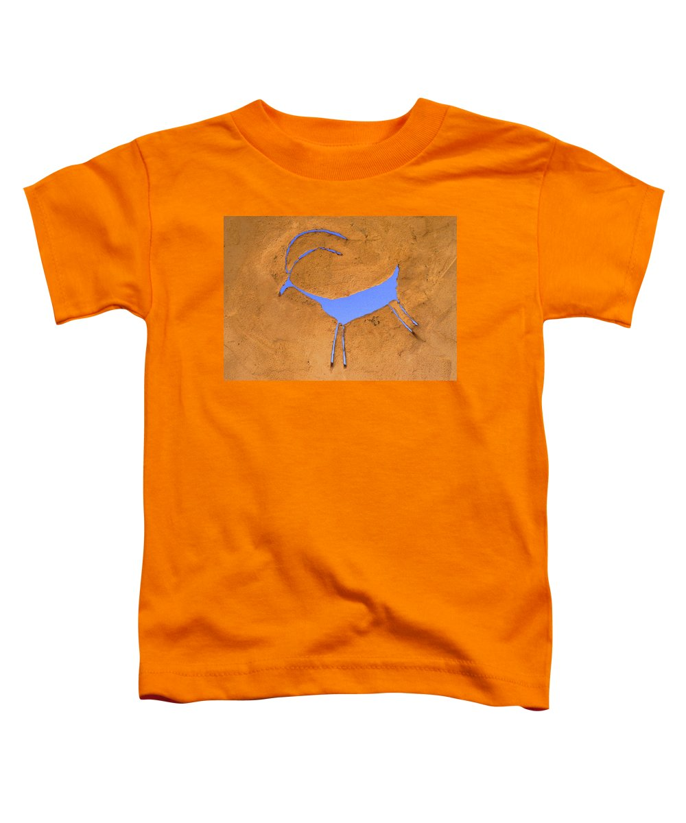 Anasazi Toddler T-Shirt featuring the photograph Antelope Petroglyph by Jerry McElroy
