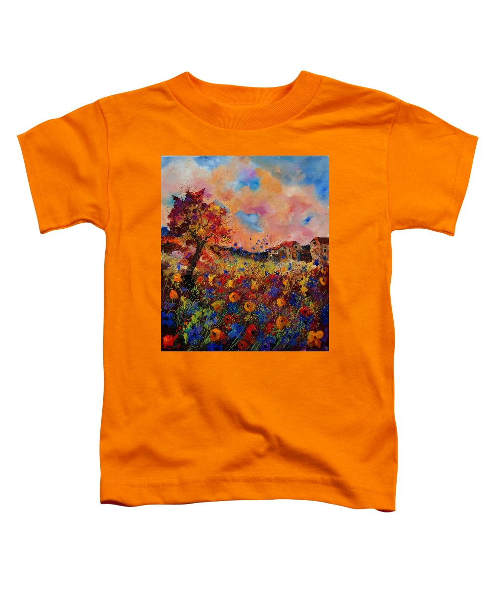 Poppies Toddler T-Shirt featuring the painting Autumn Colors by Pol Ledent