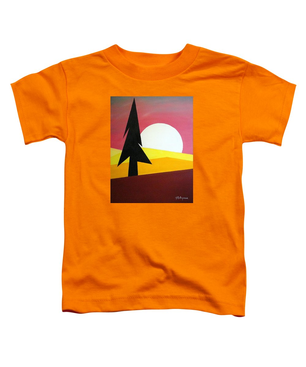 Phases Of The Moon Toddler T-Shirt featuring the painting Bad Moon Rising by J R Seymour