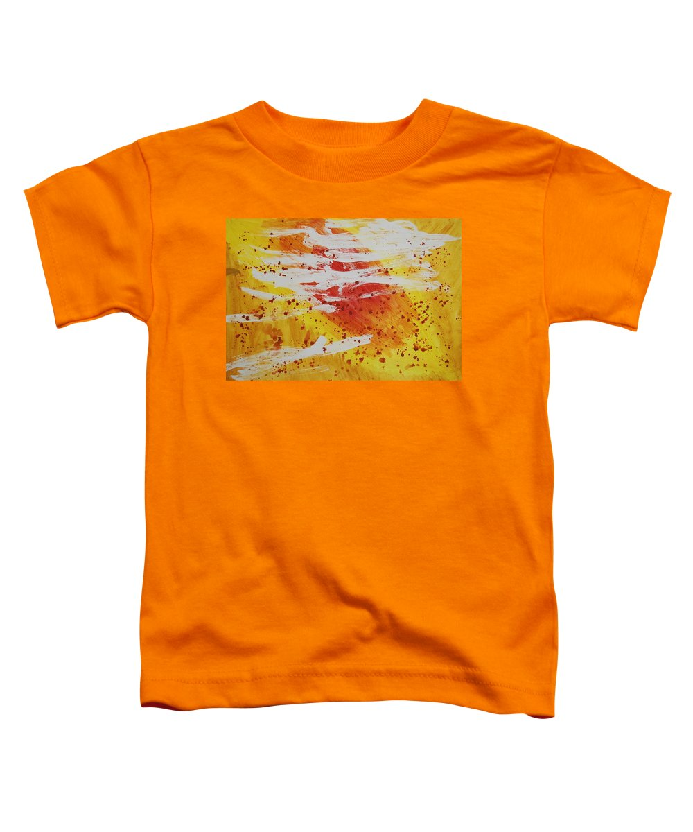Abstract Toddler T-Shirt featuring the painting Bailando En El Sol by Lauren Luna