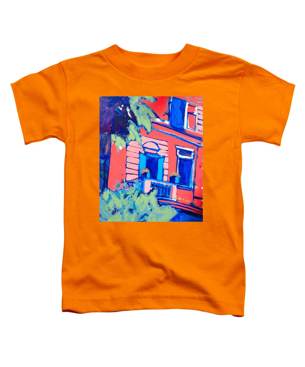 Balcony Toddler T-Shirt featuring the painting Balcone by Kurt Hausmann
