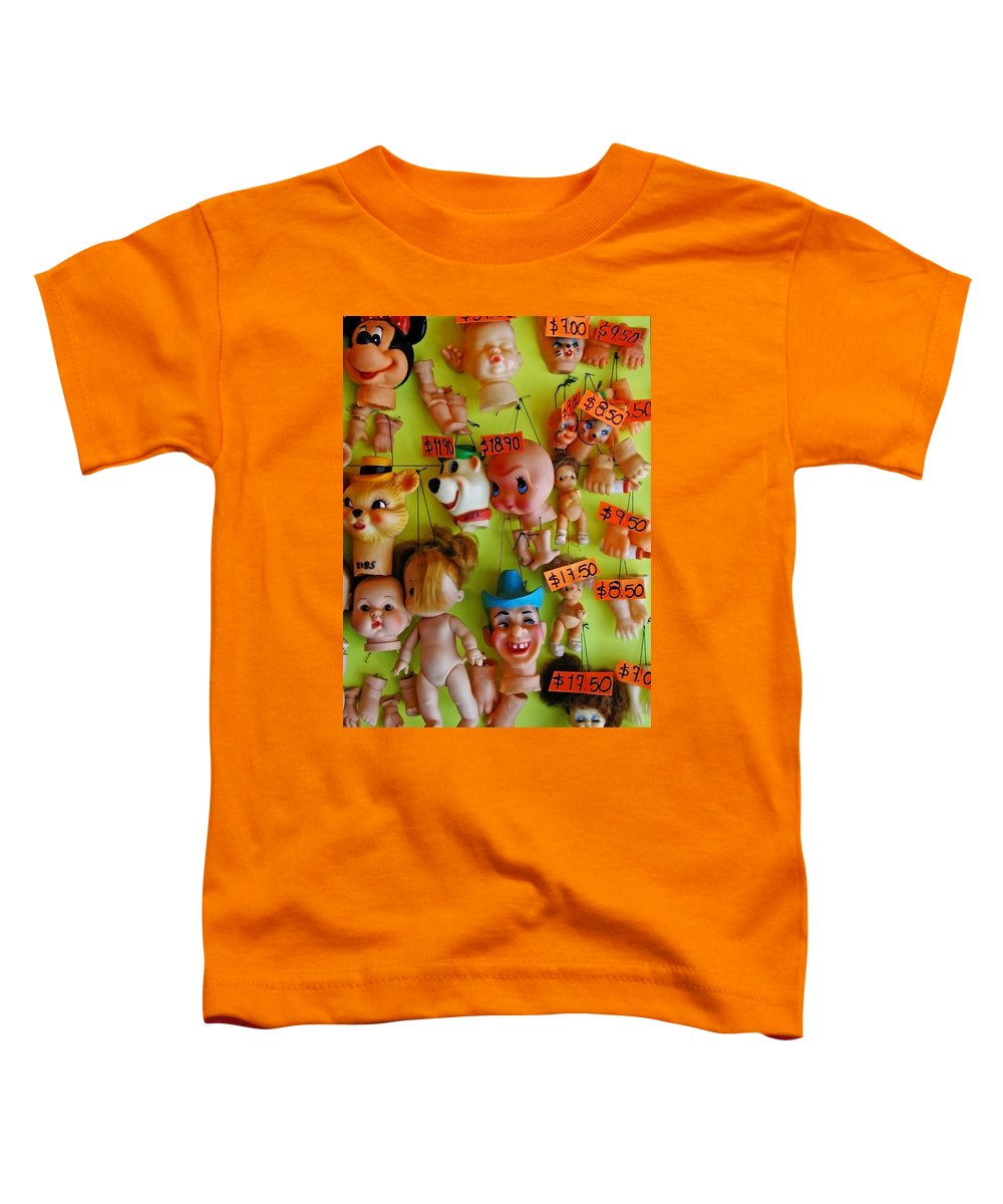 Heads Toddler T-Shirt featuring the photograph Black Market Parts by Skip Hunt