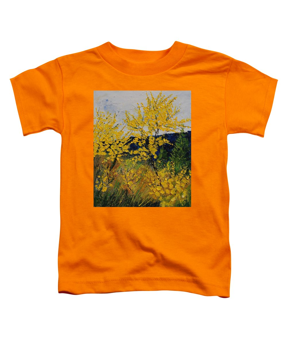 Flowers Toddler T-Shirt featuring the painting Brooms by Pol Ledent